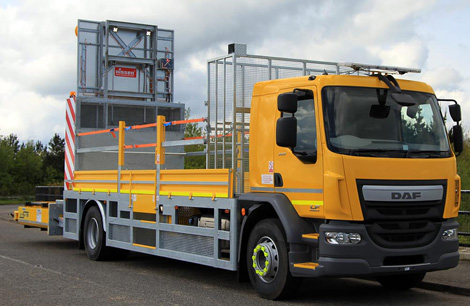 Daf Impact Protection Vehicle (IPV) front view