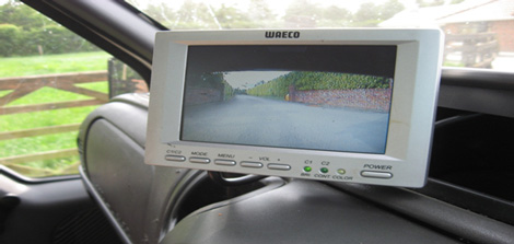 In-cab computerised control system monitor