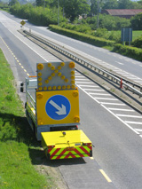 An Impact Protection Vehicle in operation on a motorway